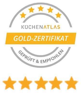 Logo Küchen-Atlas Gold-Zertifikat